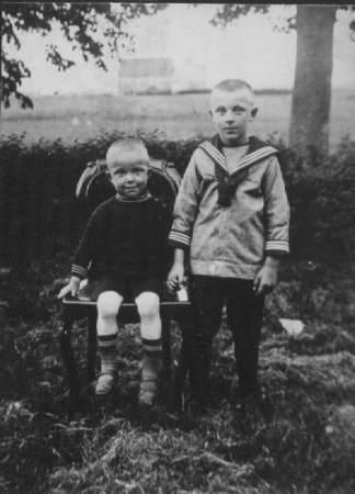 Freark (links) en z'n broer Lambertus