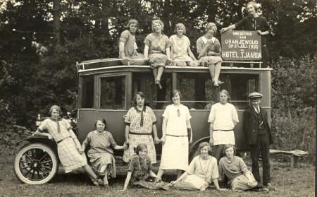 Reisje naaiclub naar Oranjewoud,op 21-7-1926.