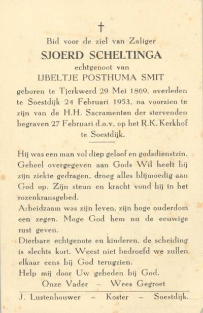 1953 - bidprentje Sjoerd Scheltinga-1