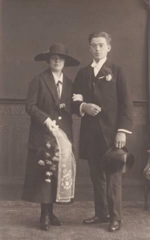Sikke Schelktinga en Henriette de Keijzer huwelijk 1924