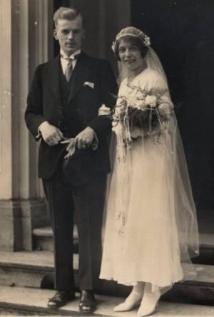 Tjidse Scheltinga en Petronella Schouten huwelijk 1932