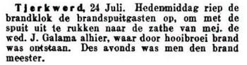 Brand bij Galama 25-7-1919